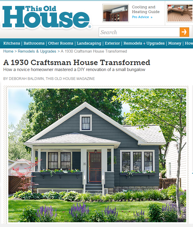 This Spring I Was Contacted By The Editors Of This Old House Magazine About  A Possible Feature Of Ittybittybungalow In The September Issue.